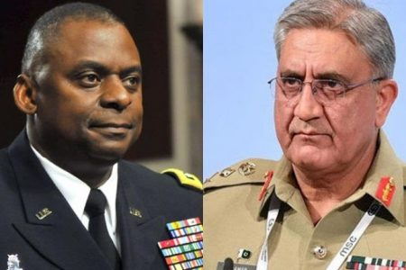 US defence secretary discusses Afghan issue with General Bajwa